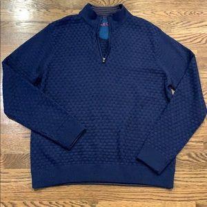 Robert Graham men's 1/4 zip sweater, XL